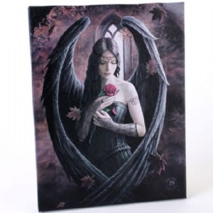 Rose Angel - Anne Stokes - canvas wall plaque